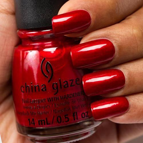 Red Pearl China Glaze Red Shimmer Nail Varnish