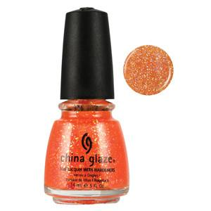 Dreamsicle China Glaze Orange Glitter Nail Varnish