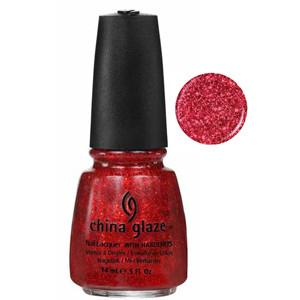 Ring In The Red China Glaze Pink Red Glitter Nail Varnish