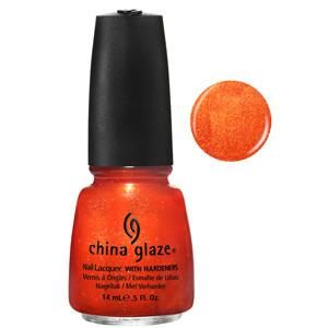 Riveting China Glaze Burnt Orange Copper Shimmer Nail Varnish