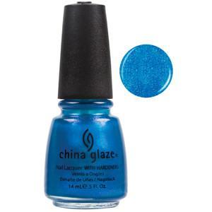 Blue Iguana China Glaze Bright Bright Blue Shimmer Nail Varnish