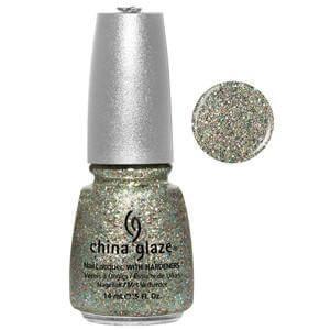 Ray-diant China Glaze Green 3D Holographic Glitter  Nail Varnish