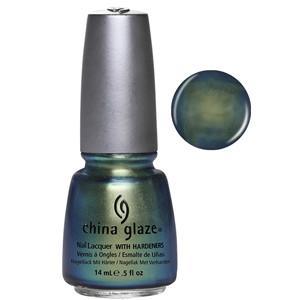 Unpredictable China Glaze Green Chrome Nail Varnish