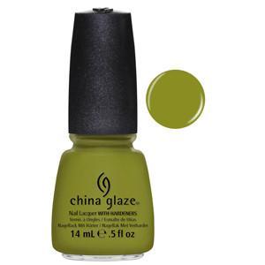 Budding Romance China Glaze Moss Green Nail Varnish