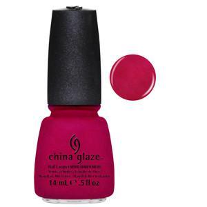 Snap My Dragon China Glaze Bright Red with Pink Shimmer Nail Varnish