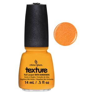 Toe-Tally Textured China Glaze Orange Tangerine Nail Varnish with Sand Effect