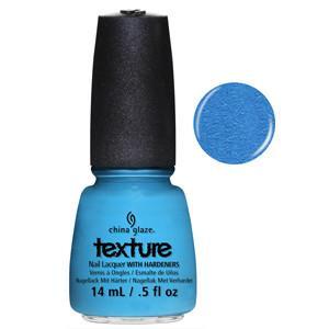 Of Course China Glaze Bright Blue Sand Effect Nail Varnish