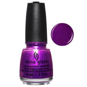 Purple Fiction China Glaze Royal Metallic Plum Nail Varnish