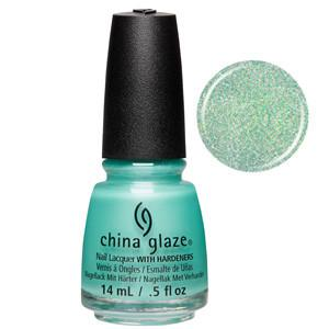Twinkle Twinkle Little Starfish China Glaze Green Holofraphig Glitter Nail Varnish
