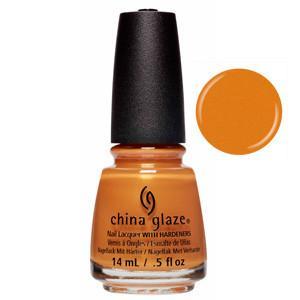 Accent Piece China Glaze Pumpkin Orange Shimmer Nail Varnish