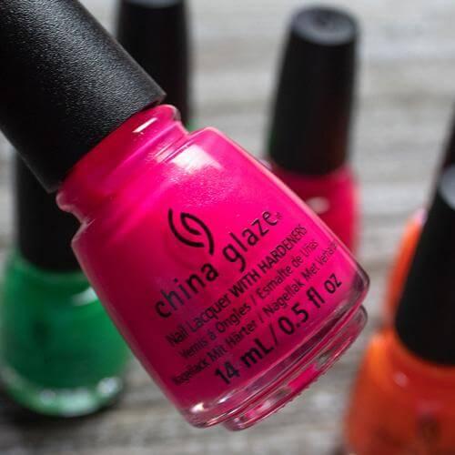 Don't Be Sea Salty China Glaze Nail Varnish 14ml Hot Pink Creme Shade