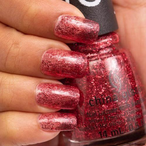 On The Nice List China Glaze Nail Varnish 14ml Red Glitter