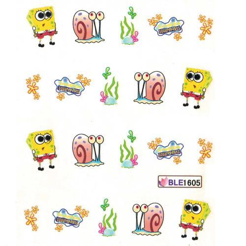 Nail Art Water Decal BLE1605 Spongebob Theme